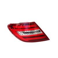 Светодиодный автомобиля задние фонари для Mercedes Benz 2011 2014 W204 C класса C250 C350 C63 12 V комплект для освещения автомобиля красный чистый АБС пластик