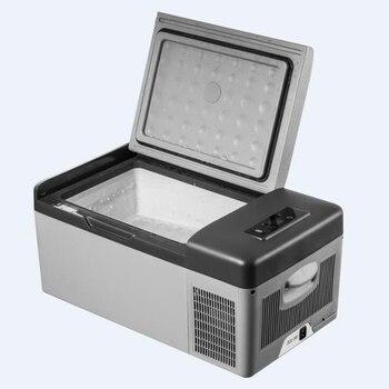 15L AC/DC refrigerador portátil de coche casa Picnic Camping fiesta de calidad Premium pantalla Digital LED rápida refrigeración