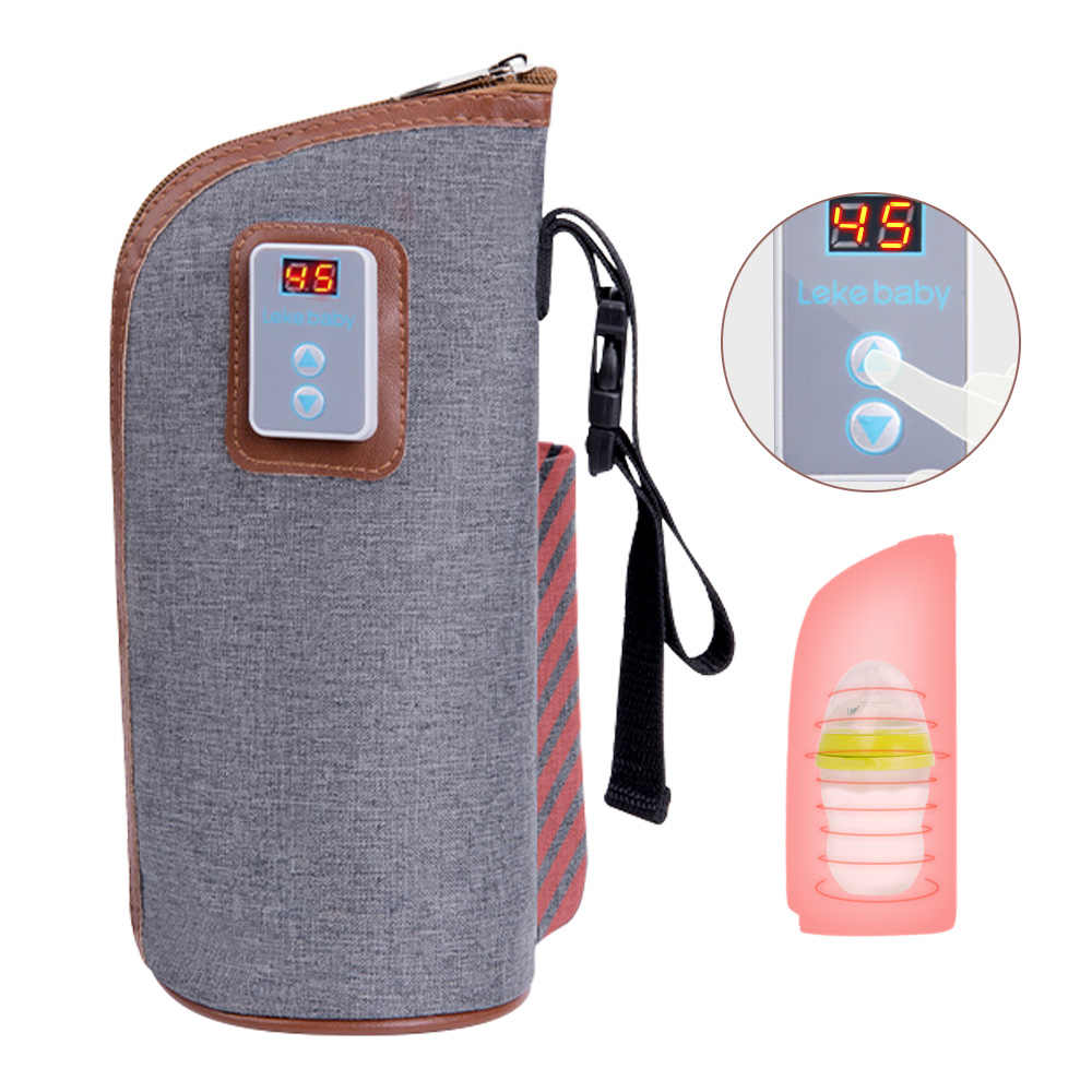 USB Baby Bottle Warmer Feeding Bottle Heated Cover Insulation Milk Warmer Infant Thermostat Food Heater Portable Travel