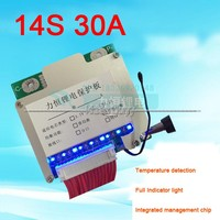 14S 48V Li ion Lithium Cell 30A 18650 Battery Protection BMS PCM PCB Board with Balance