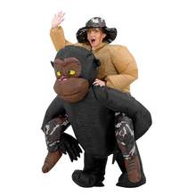Creative Inflatable Orangutan Costumes Cosplay Party Prop Toy Funny Adult Style Orangutans Ride Outfit Suit Clothing With Cap huge black plush orangutans toy big fat creative orangutans doll about 80cm