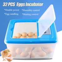 32 Eggs Electronic Digital Incubator Hatcher Automatic Incubation Chicken Duck And Goose Incubator 12V/220V