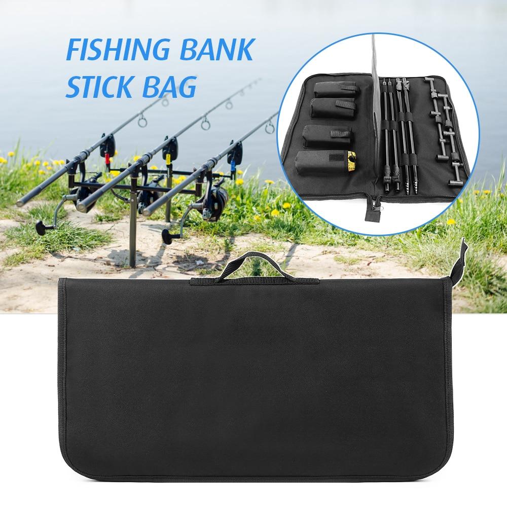 Padded Fishing Tool Storage Bag Fishing Buzz Bar Organizer Fishing Bait Alarm Pouch Fisihing Bank Stick Bag Pesca|Fishing Bags| |  - title=