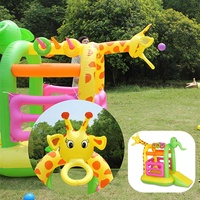 Inflatable Bouncer House Children Outdoor Climb Fun Jump Sports Playing Games Bouncers Kids Home Blower Toys 175X160X112cm