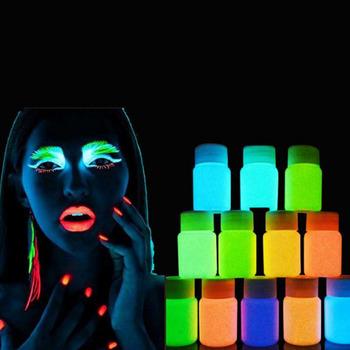 12 neonowe kolory fluorescencyjne malowania ciała UV rosną w ciemności malowanie twarzy Luminous farby pigmentu festiwal Party Halloween narzędzie do makijażu tanie i dobre opinie 1Pc NEON COLOUR FACE BODY PAINT Farba ciała 25ml Fluorescent Rave Festival Painting Luminous acrylic pigment