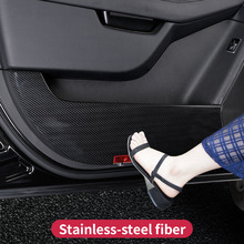 For Mercedes Benz GLE W166 GLE coupe  C292 350d amg protective door scratch mark dirty Trim Cover Sticker Accessories 4pcs door sill scuff plate step protector guard trim cover for mercedes benz gle class coupe c292 320 350d 400 450 car styling