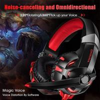 ONIKUMA K2A Wired Gaming Headset Stereo Headphones with Mic LED for PC PS4 This Gaming Headset volume very loud soft LED Light