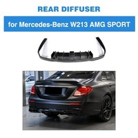 Задний бампер диффузор для Mercedes Benz E250 E350 E400 E43AMG E63AMG углеродного волокна задний спойлер