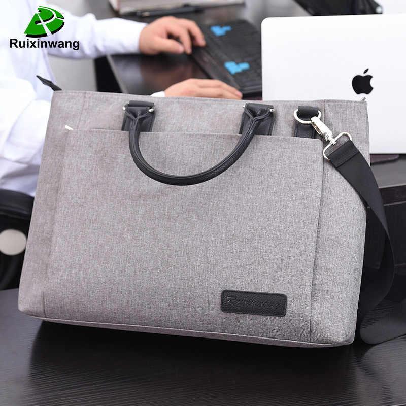 ビジネスラップトップバッグ男性ブリーフケースノートブックバッグファイルバッグパッケージナイロンオフィスのハンドバッグの仕事バッグ Macbook Pro の女性のコンピュータバッグ