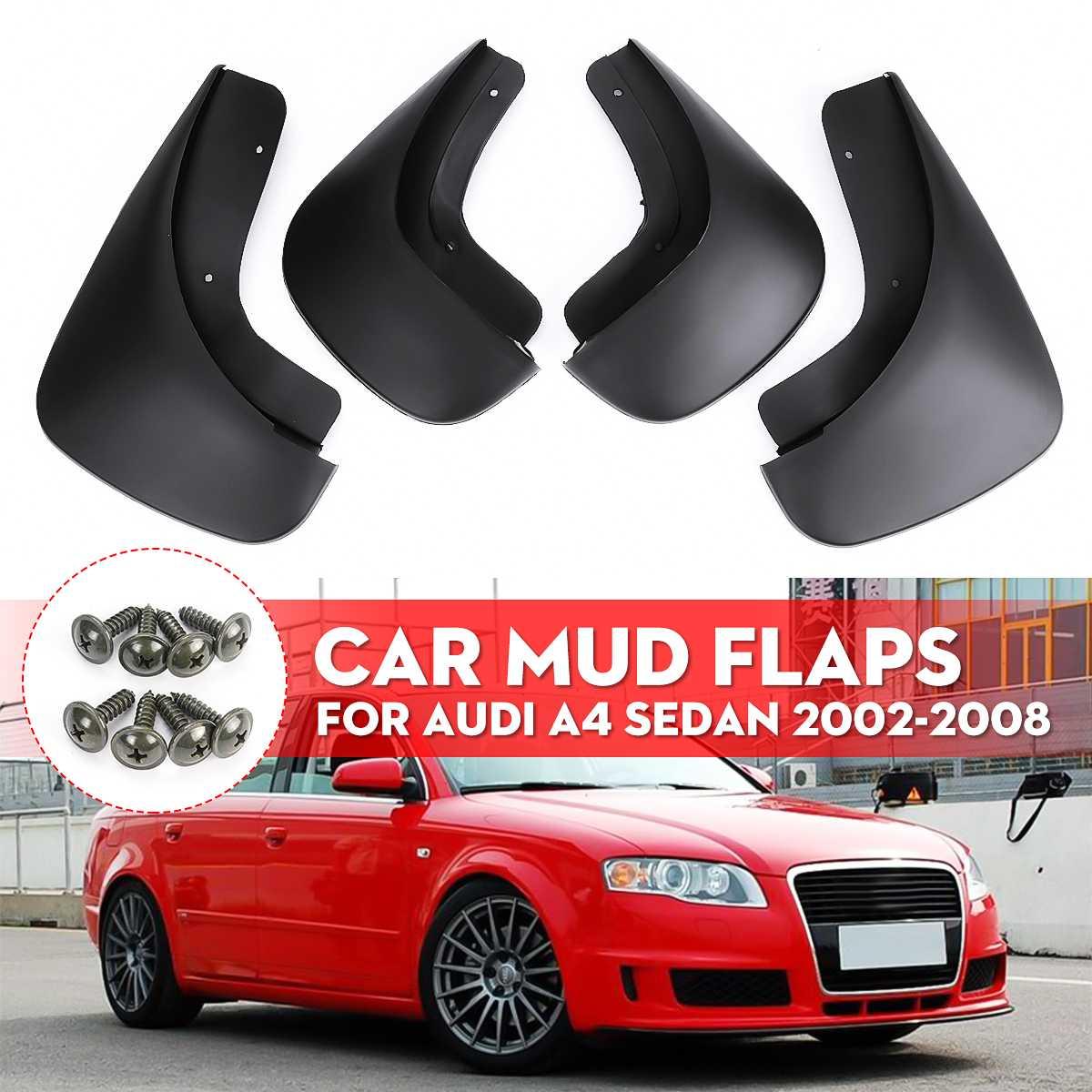 자동차 머드 플랩 mudflaps 스플래쉬 가드 mudguards for fender for audi a4 sedan 2002 2003 2004 2005 2006 2007 2008