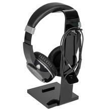 Acrylic Headset Display Stand Universal Compatibility Holder Plastic Square Bottom Black Glasses Virtual Reality