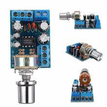 цена на TDA2822 TDA2822M Mini 2.0 Channel 2x1W Stereo Audio Power Amplifier Board DC 5V 12V CAR Volume Control Potentiometer Module
