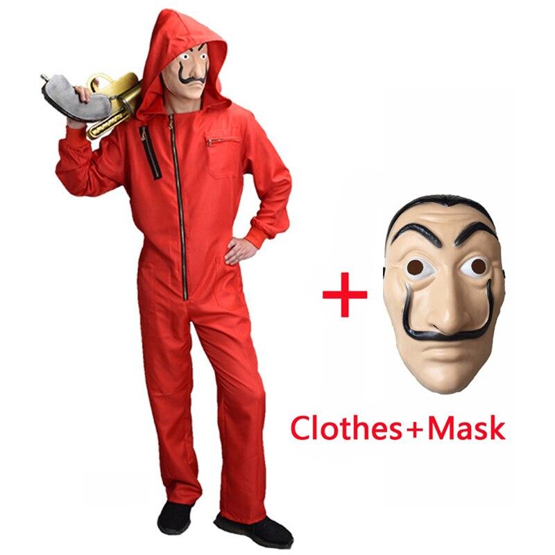 Adulte homme femmes La Casa De Papel Salvador Dali déguisement La maison du papier Cosplay Fantasia déguisement avec masque