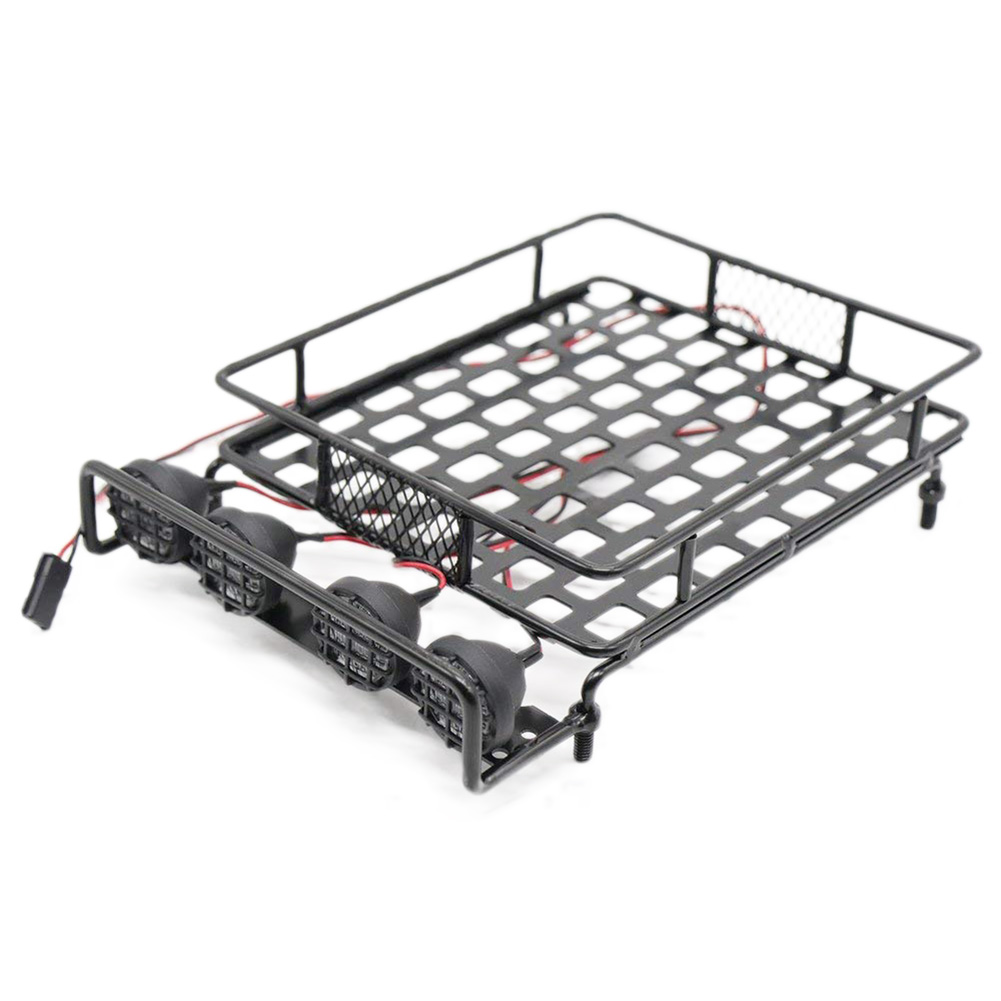 <font><b>RC</b></font> 1:10 Roof Luggage Rack <font><b>LED</b></font> <font><b>Light</b></font> <font><b>Bar</b></font> Wrangler for Tamiya CC01 SCX10 Axial 515 image
