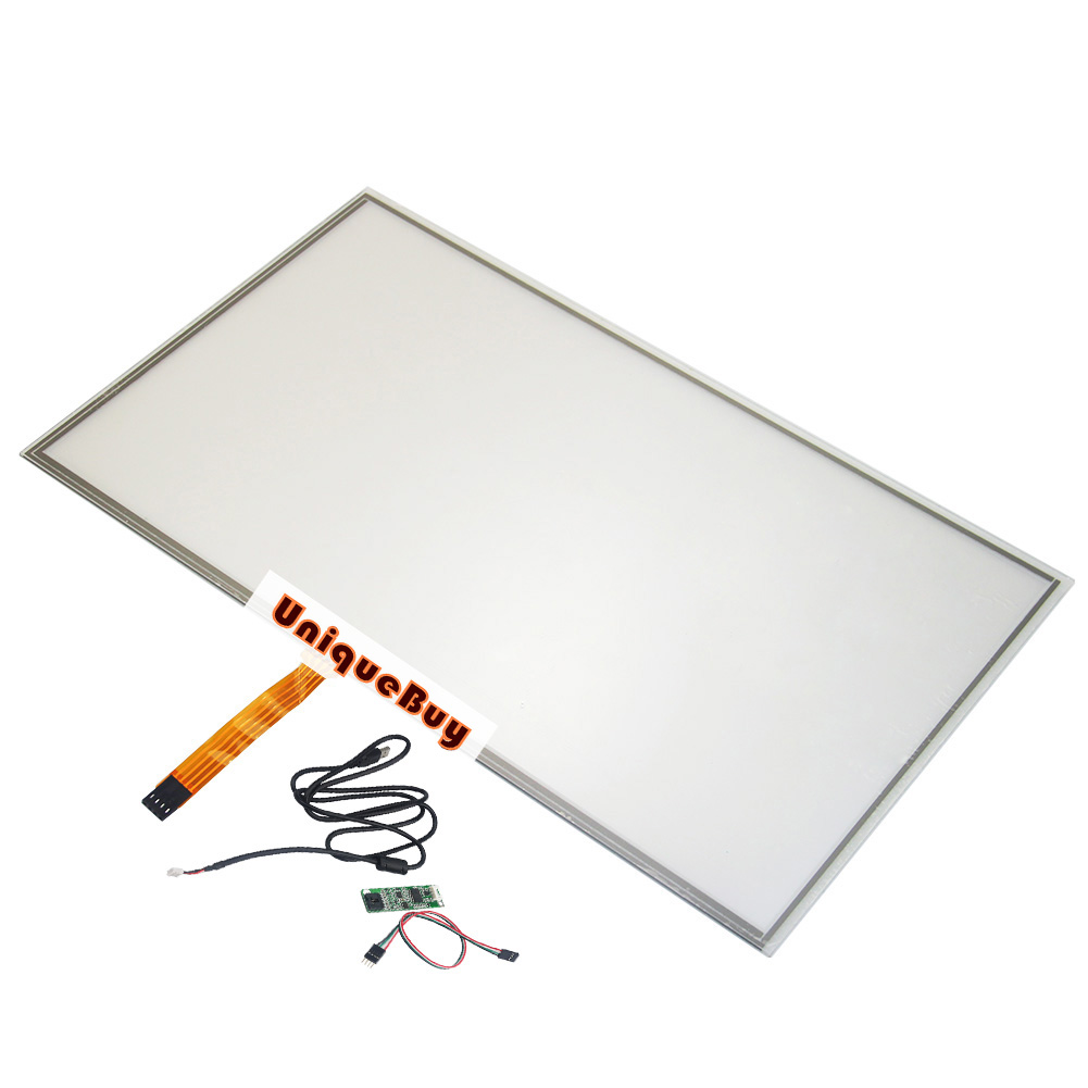 For 15.6inch 359*209mm 4-wire Digitizer Resistive Touch Screen Panel Resistance Sensor + USB controller