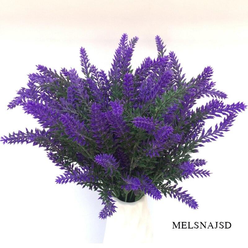 melsnajsd Romantic Provence decoration lavender flower  artificial flowers grain decorative Simulation of aquatic plants