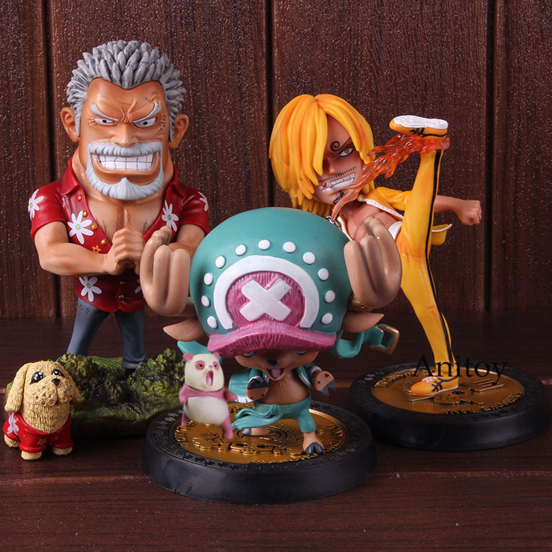 Anime One Piece Kungfu Vinsmoke Sanji Tony Tony Chopper Monkey D Garp One Piece Figure GK Statue Collectible Model Toy 1