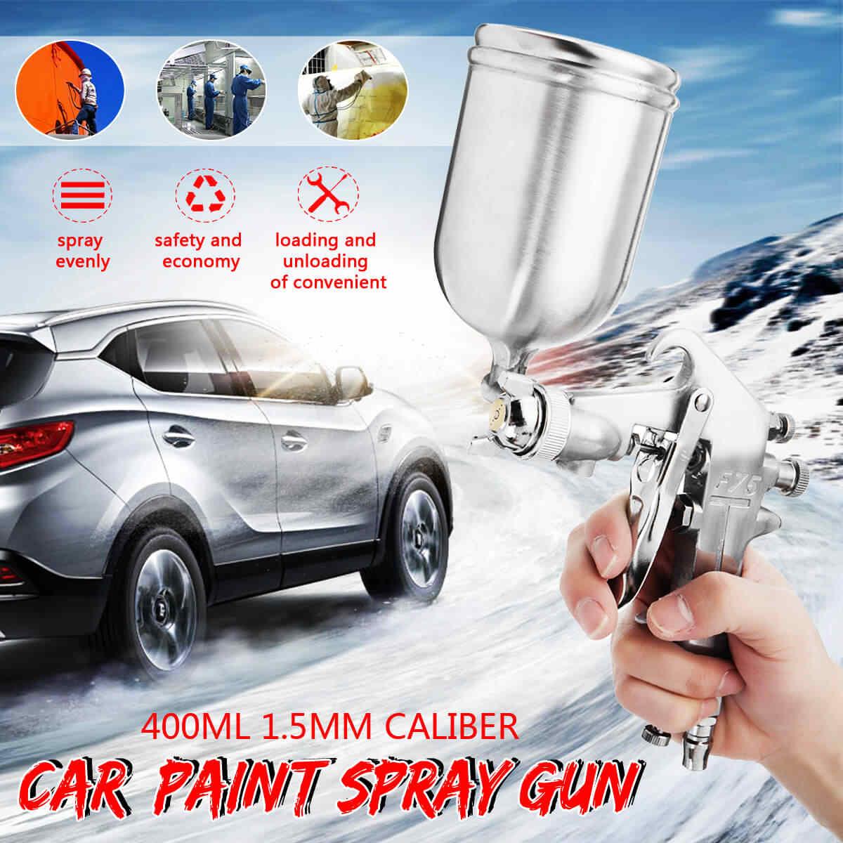 400 ML 1,5 мм Профессиональный распылитель Краски распылительная аэрография комплект Нержавеющаясталь сопла авто Краски ing для точечного ремонта