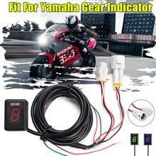 Indicador de engrenagem da motocicleta lcd 1-6 nível indicador de engrenagem digital medidor de engrenagem para yamaha YZF-R1 r6 xjr400 mt01 mt03 fz8 fz1 fz6 xj6