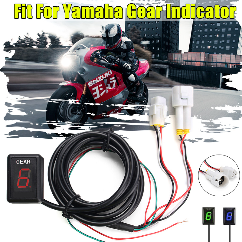 New 1 6 Speed Lever Motorcycle Gear Indicator Gear Moto Speed Digital Meter for Yamaha YZF R1 YZF R6 Xt660 Fz6 Fz 16 Fz1 Fz8