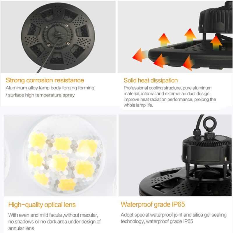 100 Вт 150 Вт Шахтерская лампа UFO highbay Светодиодный промышленный светильник ing водонепроницаемый IP65 потолочный светильник на складе заводская лампа