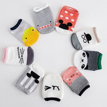 2019 New Product Baby Boat Socks Newborn Children Point Rubber Pure Cotton Cartoon Short Fund Floor Non-slip