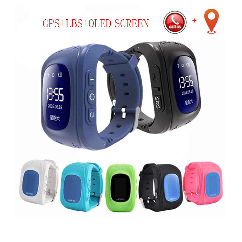 Q50 OLED Screen GPS Smart Kids Watches SOS Call Location Finder Locator Tracker for Child Anti Lost Monitor Baby Watch for IOS