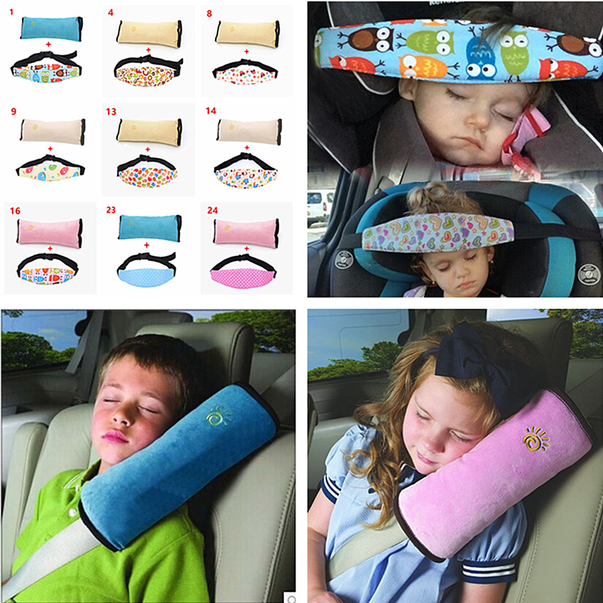Car Safety Seat Sleep Positioner Children Head and Shoulder Safety Belts Protection Cushion Support Pillow