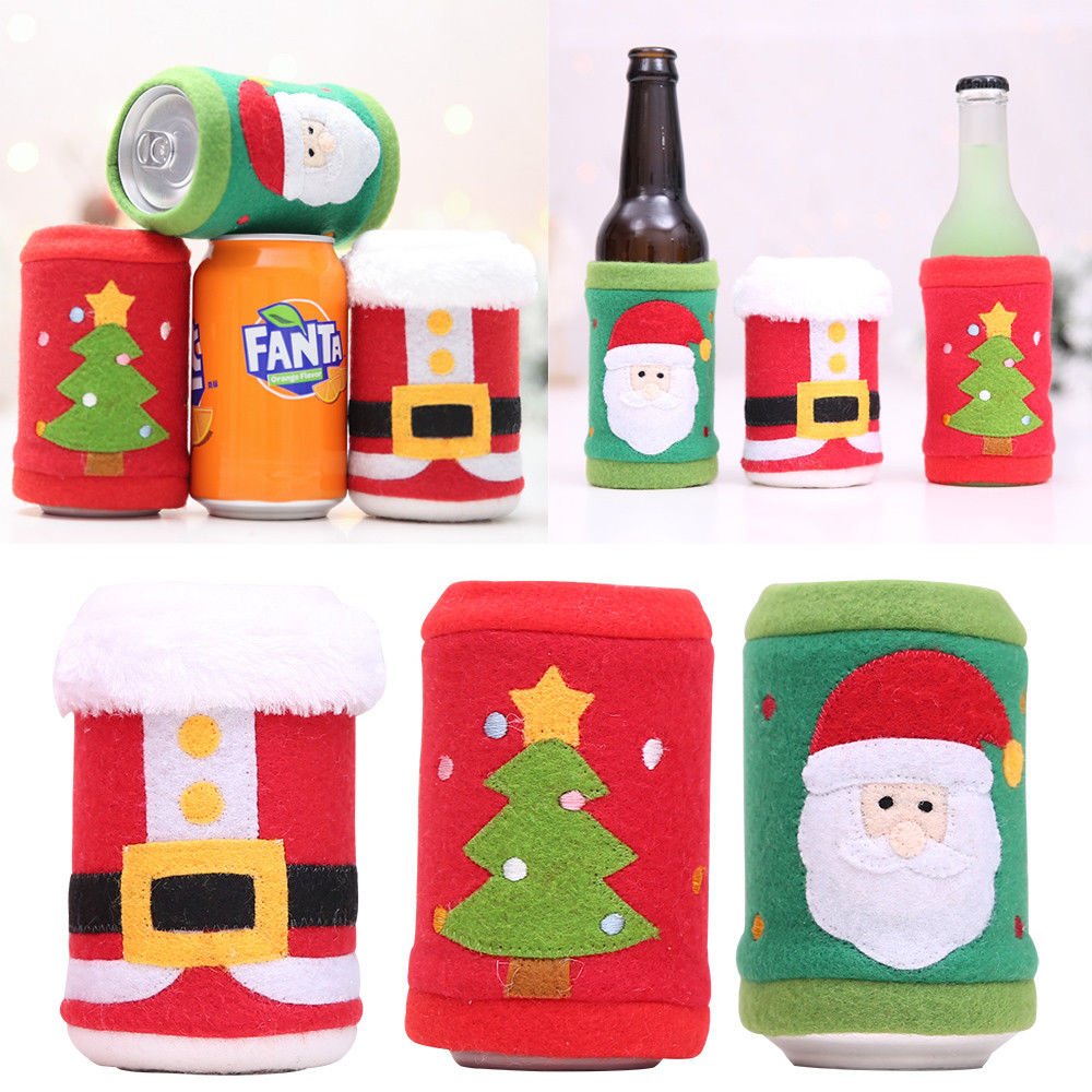 Christmas Liquor.Us 1 15 11 Off 1pcs Ugly Christmas Sweater Wine Bottle Cover Holiday Liquor Bags Nip In Christmas Hats From Home Garden On Aliexpress Com
