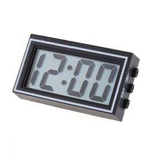 Mini Digital LCD Auto Car Truck Dashboard Date Time Calendar Clock Black auto date
