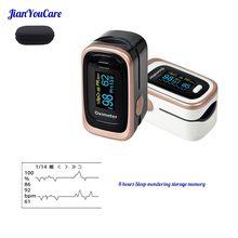 Dedo digital pulso dedo ponta oled oxímetro portátil spo2 pr pi 8 horas monitor de sono oxímetro oxigênio no sangue dedo com caso