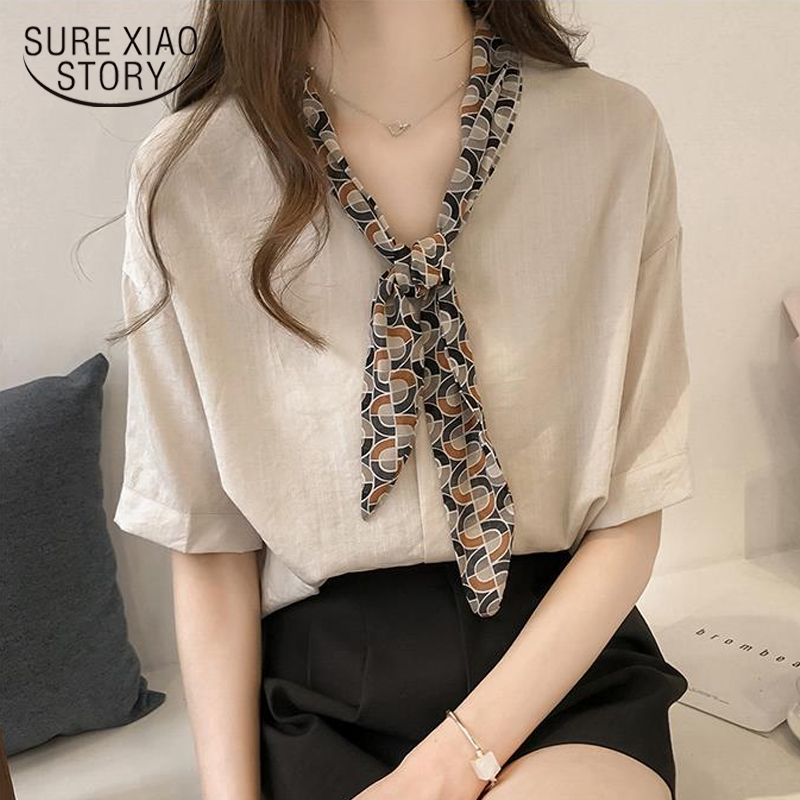 New 2018 Summer Hot Sale Short Sleeve Women   Blouse     Shirts   Chiffon Fashion Tie Bow Women Clothing Blusas Plus Size Tops 0649 40