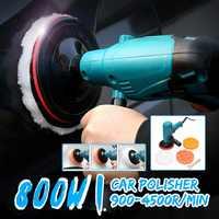800W Electric Polisher Polishing Machine Waxing Sander Buffer Speed Adjustable AC 220V Durable Multi-functional Head Anti-fall