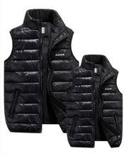 Męska zimowa puchowa kamizelka ocieplana ogrzewacz ciała ciepła kurtka bez rękawów z ocieplanym płaszczem