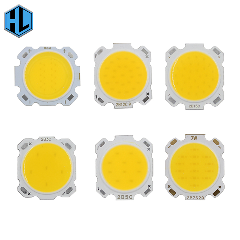 10PCS LED COB Chip 3W 5W 7W 10W 12W 15W cree led Light Bulb 28mm Diameter for led chip DIY Floodlight Spotlights Fixtures