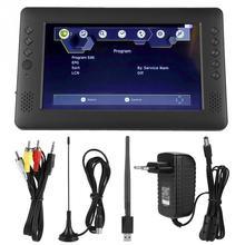 9-дюймовый портативный DVB-T/T2 цифровой ТВ HD плеер с WiFi антенной дистанционное управление штепсельная вилка ЕС 110-240 В