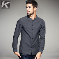 New Spring Mens Casual Shirts Thick Velvet Black Gray Color Luxury Brand Clothing Man's Long Sleeve Clothes Slim Tops 25801