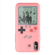 for iphone 6p retro Tetris Soft Cover Console stress reliever Gameboy phone case