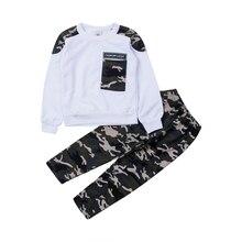 35db1b752508a 2 piezas genial hombre moda traje de camuflaje de los niños traje de  chándal de traje
