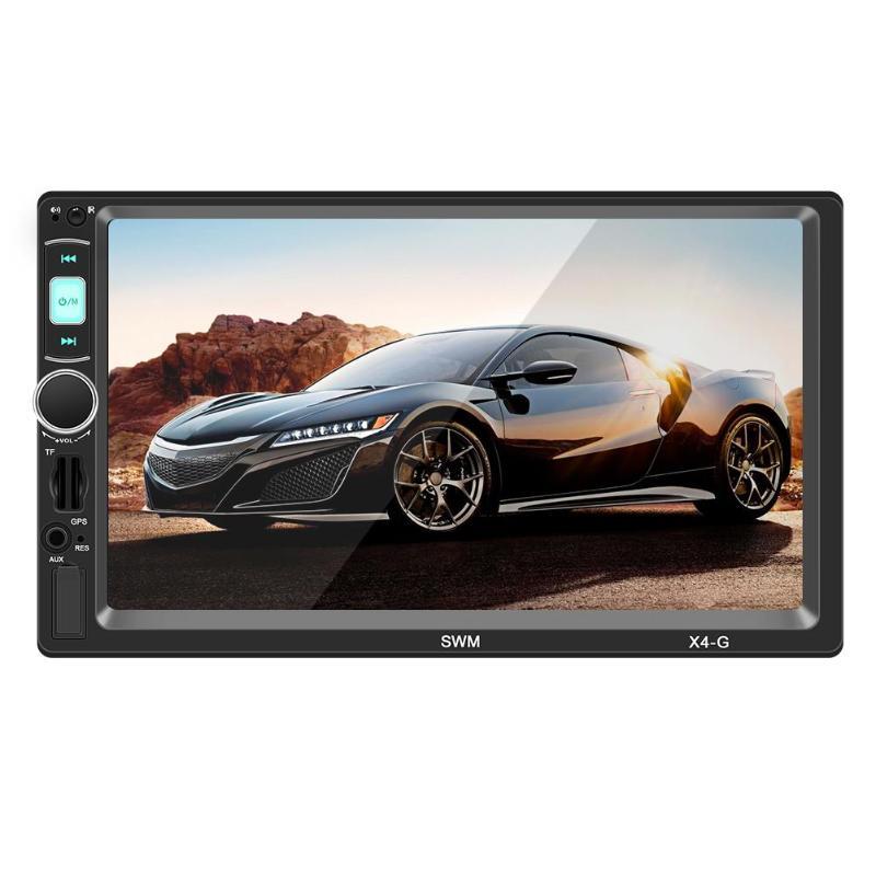 SWM X4G 7 pouces 2 Din Bluetooth voiture stéréo lecteur MP5 GPS Navigation tête unité récepteur FM Radio universel voiture Audio lecteur EU Ma