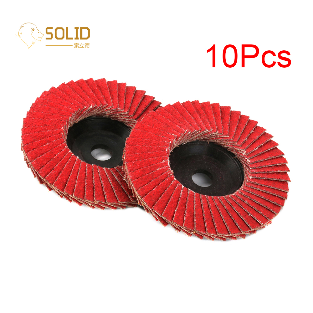 10Pcs 3 Inch Ceramic Flap Sanding Disc 80# Grinding Wheel Abrasive Tool For Angle Grinder Polishing Metal Wood Plastic Durable