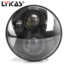 5.75 inch LED Headlight for Motorcycle High/Low Beam LED Headlamp Driving Light for Harley Davidson Projector Headlights 1 pcs dot approved victory led headlight motorcycle hi lo beam high intensity headlamp black chrome for harley davidson