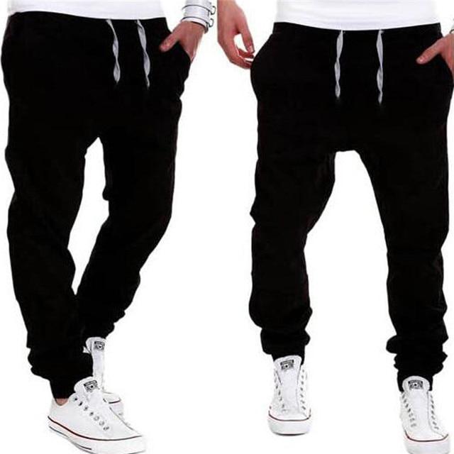 Men's Twill Jogger Pants Urban Hip Hop Harem Casual Khaki Trousers Slim Fit Elastic Stretch Drawstring Waist Streetwear Pants