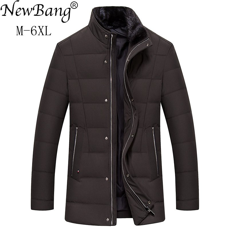 b04a333cac3 NewBang Brand 6XL Warm Winter Down Jacket Man Duck Down Warm Thick Feather  Parka For Men Outwear Large Size Windbreaker
