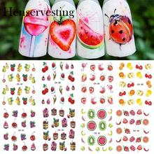 Beauty Decals Fruit Cream Cake Various Decoration Designs DIY Nail Art Sticker Multi Color Type