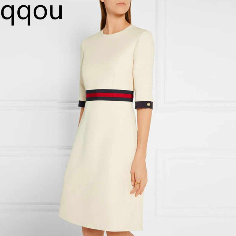 Осенне-зимнее платье с длинными рукавами, круглым вырезом и тонкой талией, женская одежда