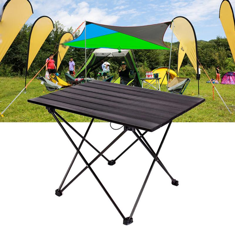 Outdoor Portable Foldable Camping Table Folding Table Desk For Camping Picnic Fishing Barbecue Aluminium Alloy Ultra light