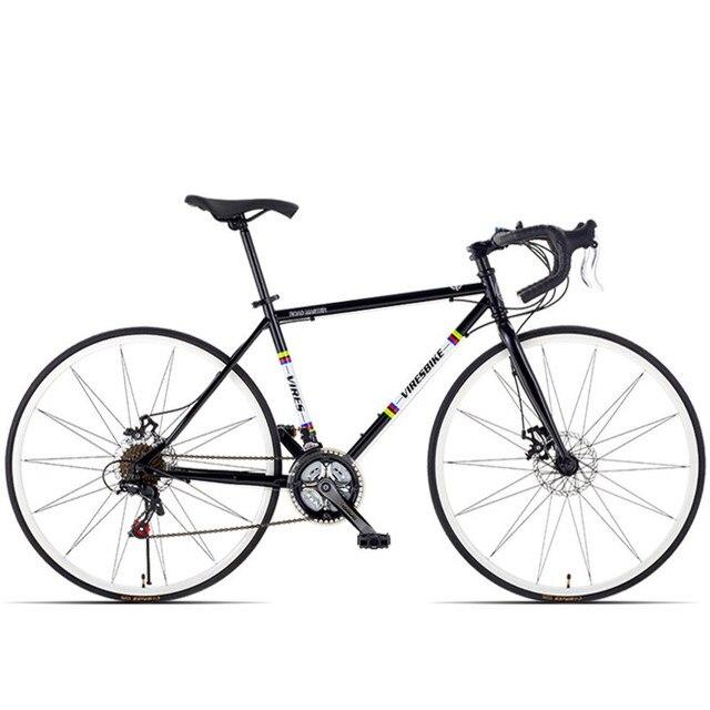 New Carbon Steel Frame 700cc Break Wind Road Bike 21/27 Speed Dual Disc Brake Bicycle Outdoor Sports Cycling Racing Bicicleta