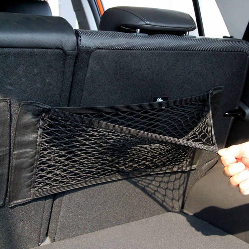 Auto Sitz Zurück Portable Storage Tasche Auto Sitz Zurück Speicher Elastische Mesh Net Tasche Gepäck Halter Tasche Aufkleber Trunk Organizer