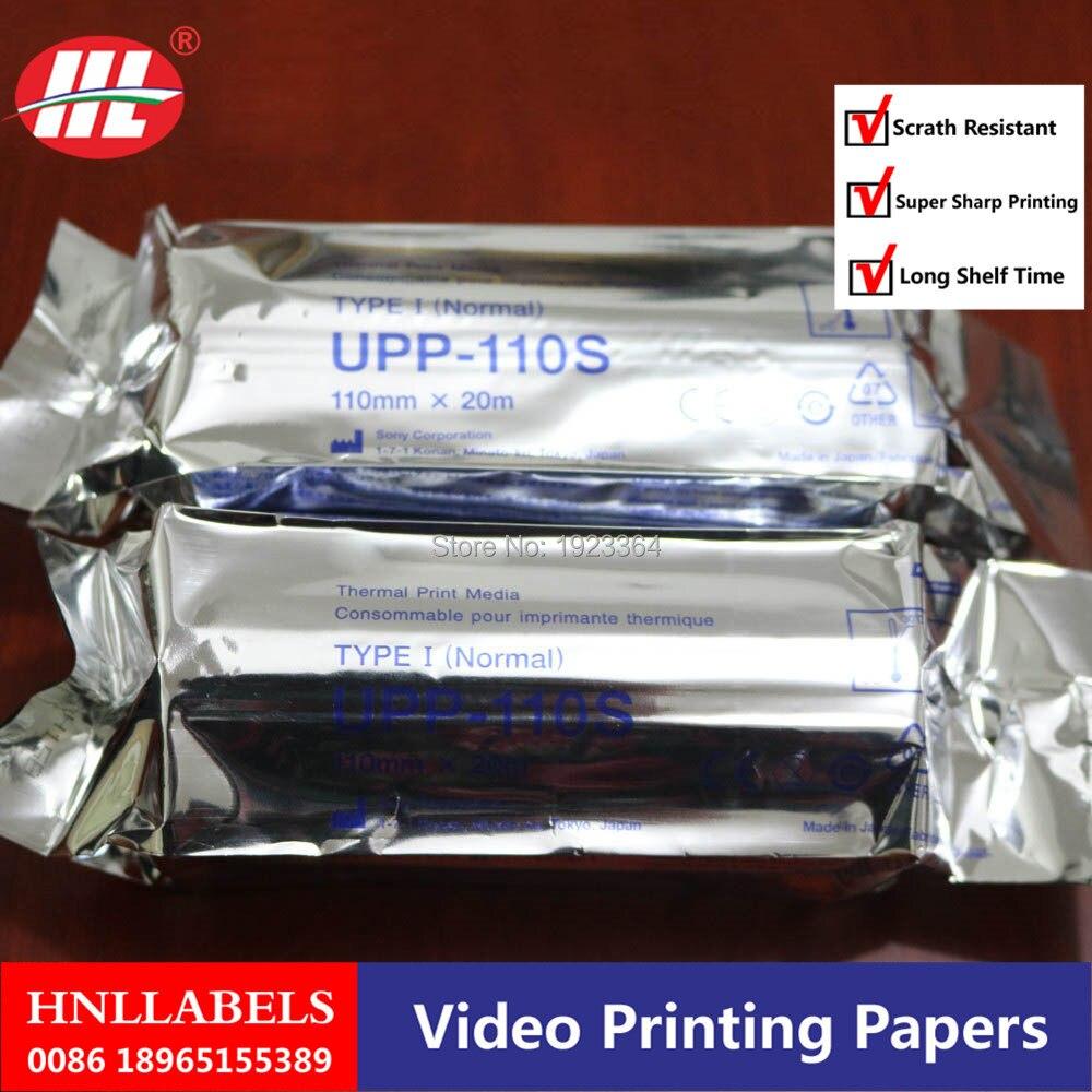 Купить с кэшбэком 10X ROLLS UPP-110S For SONY printer 110mm*20m high quality  Upp 110s SONY COPATIBLE Ultrasound Thermal Paper Roll
